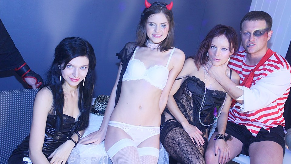 Luxurious Thin Supersluts Filled All The Way Through Gang Fuckfest Soiree