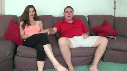 Nice Splendorous Knockers Nubile Witnessing Television With Now Not His Parent