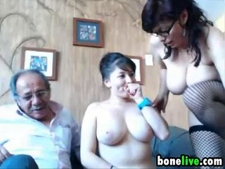 Uber-cute Elderly And Youthfull 3some