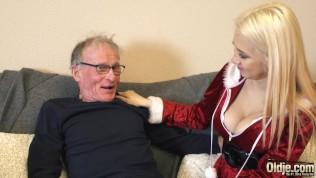 70 Yr Elderly Stud Pounds 18 Yr Elderly Damsel Brat Drinks All His Explosion